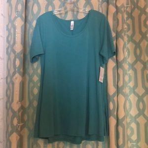 NWT Size L Lularoe turquoise perfect T